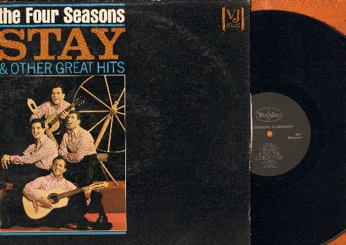 Four Seasons - Stay & Other Great Hits: Goodnight My Love, Hi Lillie Hi Lo, Connie-O, Teardrops, Long Lonely Nights (Vinyl MONO LP record) - EX8/VG7 - LP Records