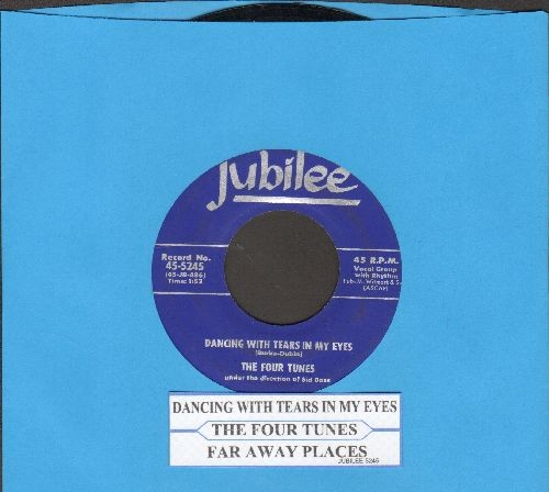 Four Tunes - Dancing With Tears In My Eyes/Far Away Places (with juke box label) - EX8/ - 45 rpm Records