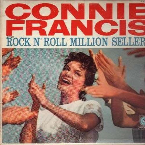 Francis, Connie - Rock 'Roll Million Sellers: Heartbreak Hotel, Tweedle Dee, I Hear You Knockin', Sincerely, Lipstick On Your Collar, Ain't That A Shame, It's Only Make Believe (Vinyl MONO LP record) - EX8/VG7 - LP Records