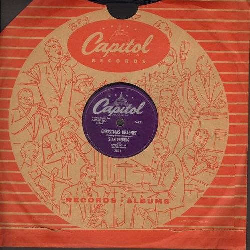 Christmas Dragnet.Milano Frank Have A Hap Hap Happy Christmas Give A Goody For Christmas 5 Inch 78 Rpm Yellow Vinyl Little Golden Record Vg7 78 Rpm