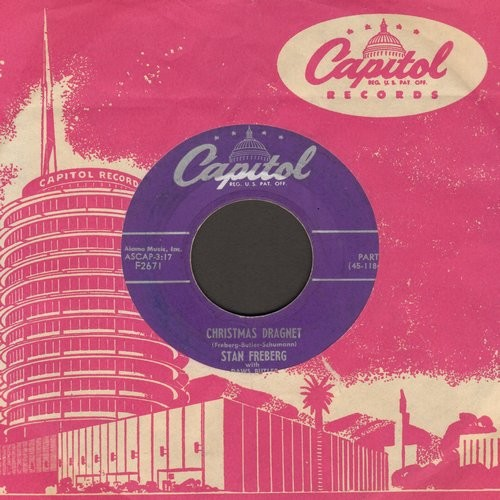 Christmas Dragnet.Freberg Stan Christmas Dragnet Parts 1 2 With Vintage Capitol Company Sleeve Ex8 45 Rpm Records