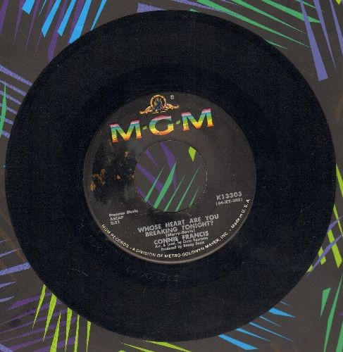 Francis, Connie - Whose Heart Are You Breaking Tonight?/Come On Jerry  - EX8/ - 45 rpm Records