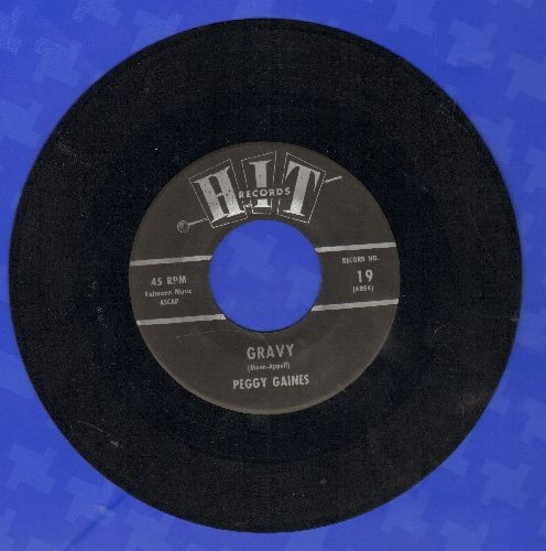 Gaines, Peggy - Gravy/Roses Are Red (by Jimmy Lucas on flip-side) (contemporary cover versions of hits) - NM9/ - 45 rpm Records