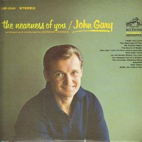 Gary, John - The Nearness Of You: The Nearness Of You, Softly As I Leave You, The Sound Of Music, On The Street Where You Live (Vinyl STEREO LP record) - EX8/EX8 - LP Records