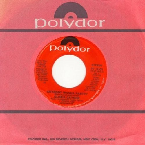 Gaynor, Gloria - Anybody Wanna Party?/Please Be There (with Polydor company sleeve) - NM9/ - 45 rpm Records