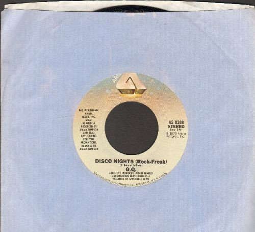 G.Q. - Boogie Oogie Ooggie/Disco Nights (Rock Freak) (with Arista company sleeve) - NM9/ - 45 rpm Records