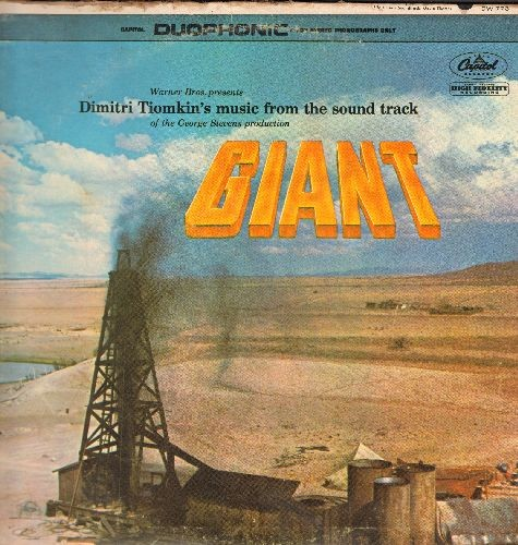 Tiomkin, Dimitri - Giant - Original Motion Picture Sound Track, includes vocal version of Theme Song (Vinyl DUOPHONIC LP record) - EX8/VG6 - LP Records
