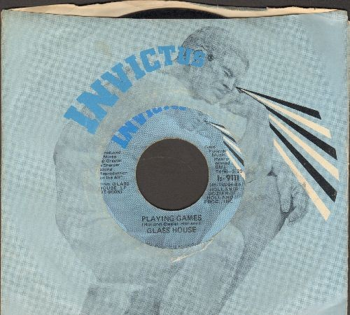 Glass House - Playing Games/Let It Flow (with RARE Invictus company sleeve) - EX8/ - 45 rpm Records