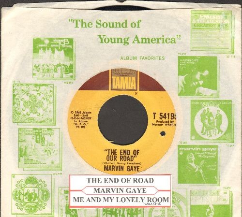 Gaye, Marvin - The End Of Our Road/Me And My Lonely Room (with juke box label and vintage Motown company sleeve)(bb) - EX8/ - 45 rpm Records