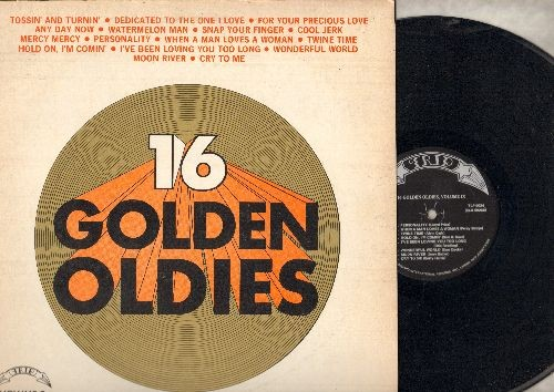 Lewis, Bobby, Capitols, Sam Cooke, Betty Harris, others - 16 Golden Oldies Vol. 9: Any Day Now, Snap Your Finger, Cool Jerk, Moon River, Wonderful World (vinyl STEREO LP record, re-issue of vintage recordings) - NM9/VG7 - LP Records