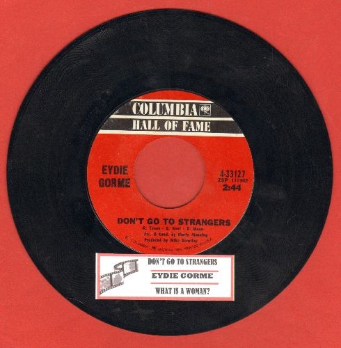 Gorme, Eydie - Don't Go To Strangers/What Is A Woman? (double-hit re-issue with juke box label) - NM9/ - 45 rpm Records