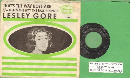 Gore, Lesley - That's The Way Boys Are/That's The Way The Ball Bounces (NICE condition with picture sleeve and juke box label) - NM9/NM9 - 45 rpm Records