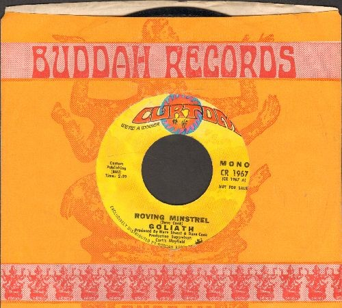 Goliath - Roving Minstrel (RARE double-A-sided DJ advance pressing with company sleeve) - EX8/ - 45 rpm Records