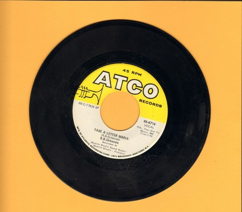 Greaves, R.B. - Take A Letter Maria (Definitive VEGAS SOUND!)/Big Bad City - VG7/ - 45 rpm Records