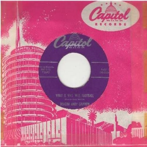 Griffith, Andy - What It Was, Was Football (Parts 1 + 2) (first pressing with Capitol company sleeve) - EX8/ - 45 rpm Records