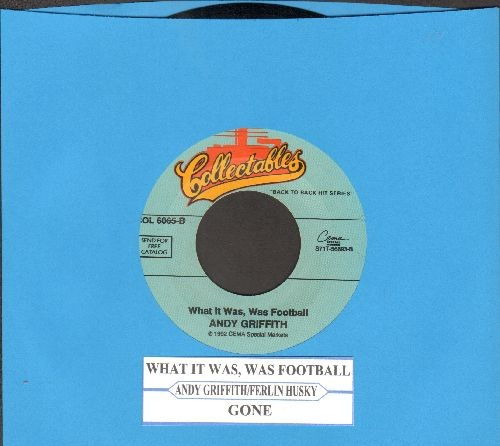 Griffith, Andy - What It Was, Was Football/Gone (by Ferlin Husky on flip-side) (double-hit re-issue with juke box label) - NM9/ - 45 rpm Records