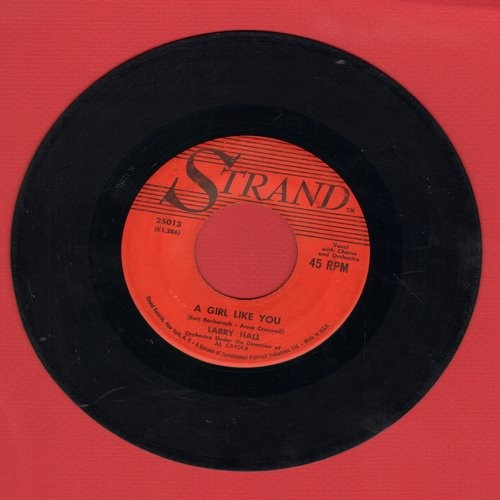 Hall, Larry - A Girl Like You/Rosemary - VG7/ - 45 rpm Records