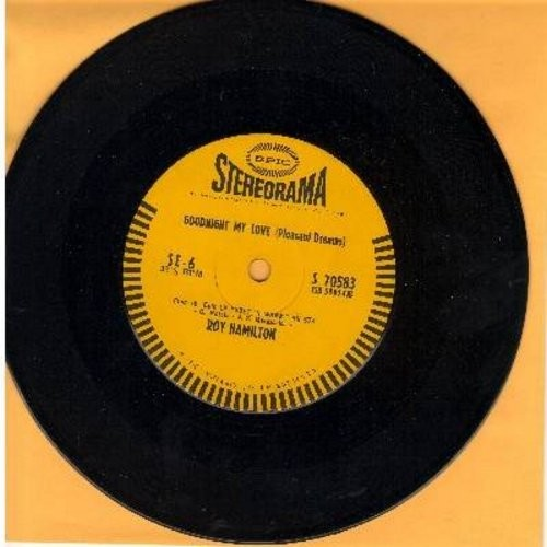 Hamilton, Roy - Goodnight My Love (Pleasant Dreams)/I Fall In Love Too Easily (RARE 7inch vinyl 33rpm STEREO pressing with small spindle hole) - NM9/ - 45 rpm Records