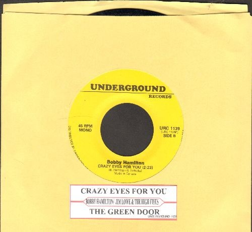 Hamilton, Bobby - Crazy Eyes For You/The Green Door (by Jim Lowe on flip-side)(with juke box label) - NM9/ - 45 rpm Records