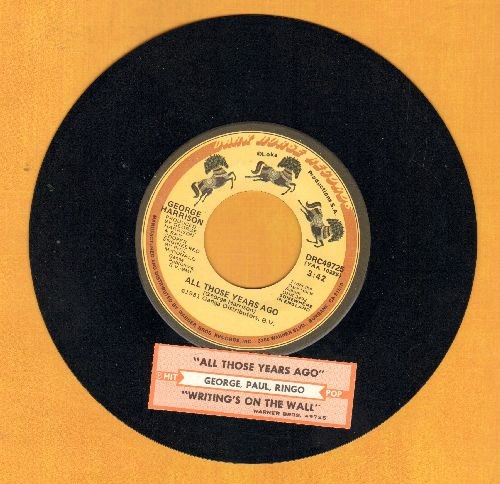 Harrison, George - All Those Years Ago/Writing's On The Wall (with juke box label) - EX8/ - 45 rpm Records