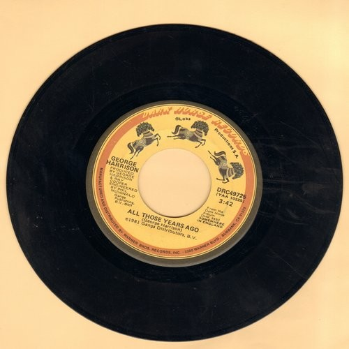 Harrison, George - All Those Years Ago/Writing's On The Wall (with juke box label) - VG7/ - 45 rpm Records