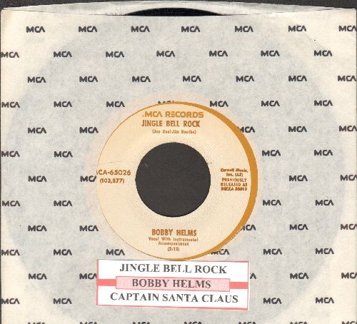 Helms, Bobby - Jingle Bell Rock/Captain Santa Claus (re-issue with juke box label and MCA company sleeve) - M10/ - 45 rpm Records