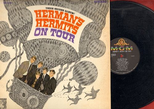 Herman's Hermits - On Tour: Can't You Hear My Heatbeat, I'm Henry VIII I Am, The End Of The World, For Your Love, Silhouettes, Heartbeat (Vinyl STEREO LP record) - NM9/EX8 - LP Records