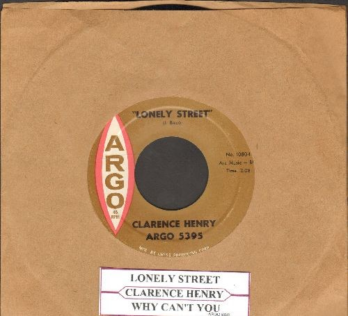 Henry, Clarence - Lonely Street/Why Can't You (NICE condition with juke box label) - NM9/ - 45 rpm Records