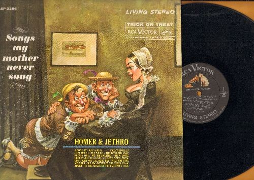 Homer & Jethro - Songs My Mother Never Sang: Among My Souvenirs, I Love Your Pizza, Please Help Me I'm Falling, Sweet Violet (Vinyl STEREO LP record) - NM9/VG7 - LP Records