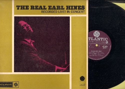Hines, Earl - The Real Earl Hines - Recorded Live! In Concert (vinyl LP record, 1965 British Pressing) - NM9/EX8 - LP Records