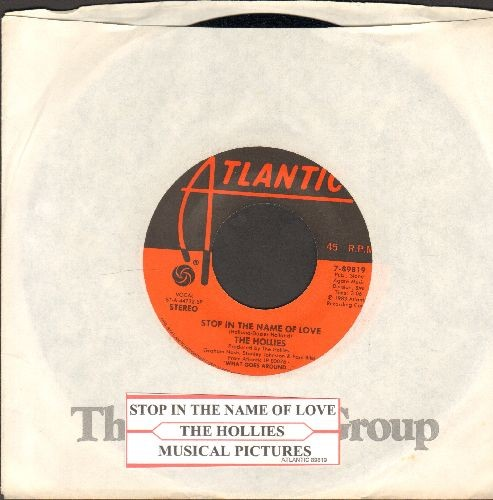 Hollies - Stop In The Name Of Love/Musical Pictures (with Atlantic company sleeve and juke box label) - NM9/ - 45 rpm Records