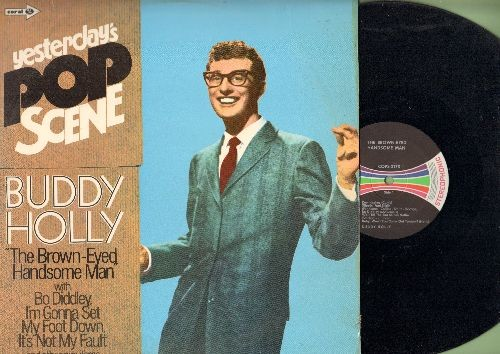Holly, Buddy - Yesterday's Pop Scene - Buddy Holly The Brown Eyed Handsome Man: Remeniscing, Bo Diddley, Rock-A-Bye-Rock, It's Not My Fault (vinyl STEREO LP record, German pressing) - NM9/VG7 - LP Records