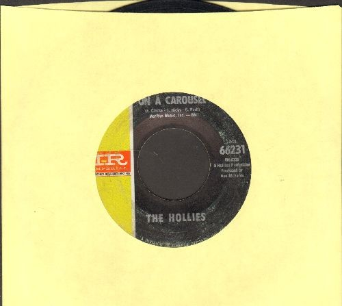 Hollies - On A Carousel/All The World Is Love - VG7/ - 45 rpm Records