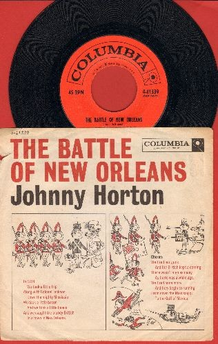 Horton, Johnny - The Battle Of New Orleans/All For The Love Of A Girl (with picture sleeve, song lyrics on sleeve) - NM9/VG7 - 45 rpm Records