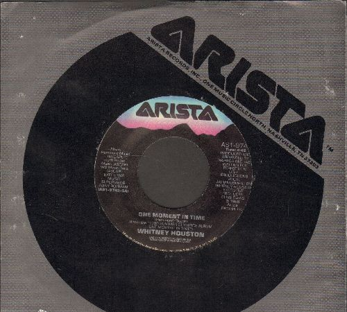 Houston, Whitney - One Moment In Time/Love Is A Contact Sport (with Arista company sleeve) - EX8/ - 45 rpm Records