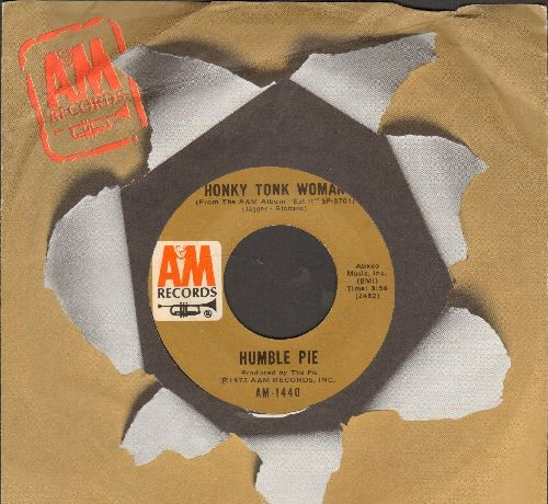 Humble Pie - Honky Tonk Woman/Get Down To It (with A&M company sleeve) - NM9/ - 45 rpm Records