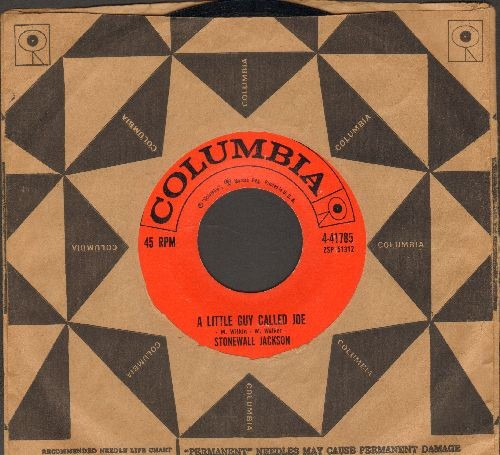 Jackson, Stonewall - A Little Guy Called Joe/I'm Gonna Find You (with vintage Columbia company sleeve) - EX8/ - 45 rpm Records