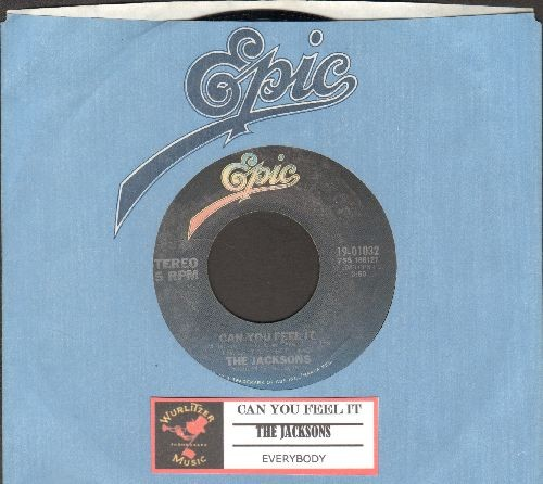 Jacksons - Can You Feel It/Everynody (with juke box label and Epic company sleeve) - NM9/ - 45 rpm Records