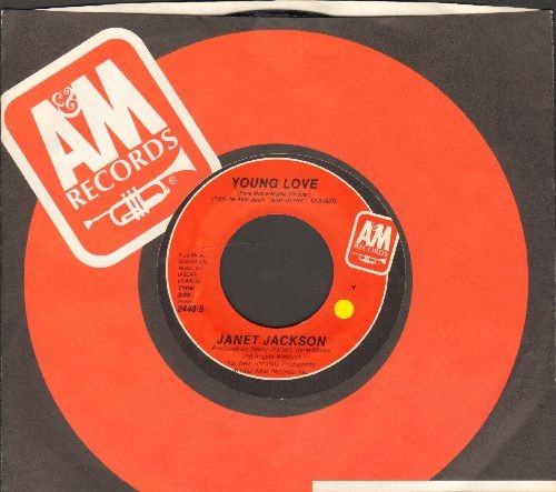 Jackson, Janet - Young Love/The Magic Is Working (with A&M company sleeve) - NM9/ - 45 rpm Records