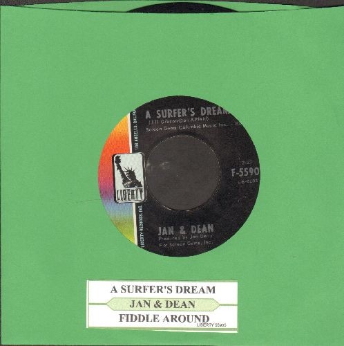 Jan & Dean - A Surfer's Dream/Fiddle Around (with juke box label) - EX8/ - 45 rpm Records