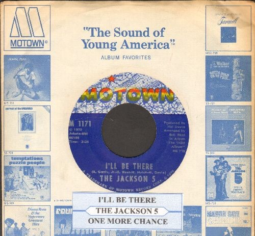 Jackson 5 - I'll Be There/One More Chance (with juke box label and Motown company sleeve) - NM9/ - 45 rpm Records