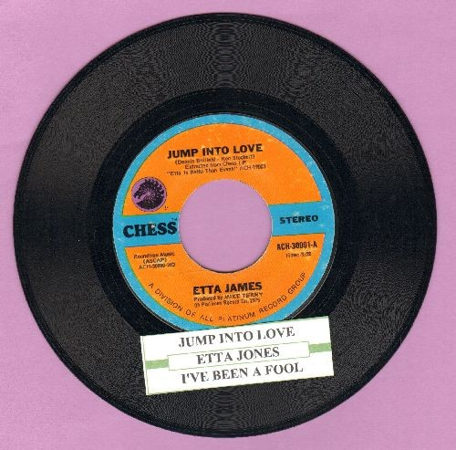 James, Etta - Jump Into Love/I've Been A Fool (with juke box label) - EX8/ - 45 rpm Records