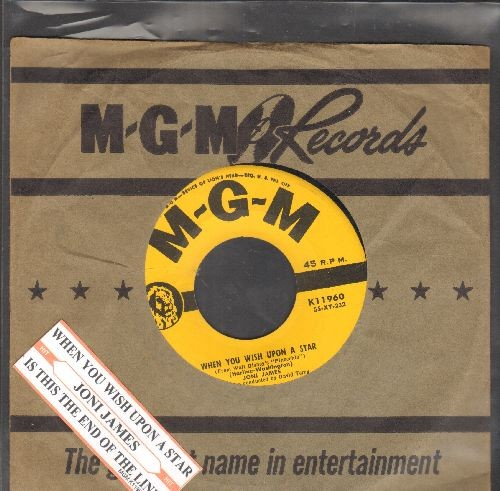 James, Joni - When You Wish Upon A Star/Is This The End Of The Line? (with juke box label and MGM company sleeve) - EX8/ - 45 rpm Records