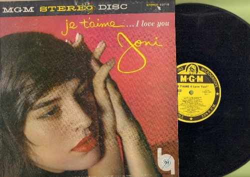 James, Joni - Je T'aime…I Love You Joni: Song From Moulin Rouge, Under The Bridges Of Paris, La Vie En Rose (vinyl STEREO LP record, 1958 first pressing) - EX8/VG7 - LP Records