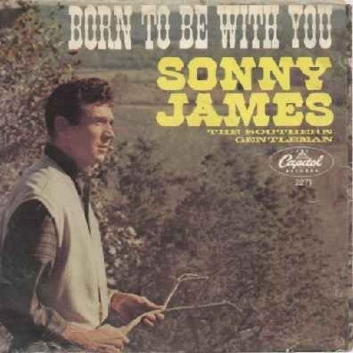 James, Sonny - Born To Be With You/In Waikiki (with picture sleeve) - EX8/EX8 - 45 rpm Records