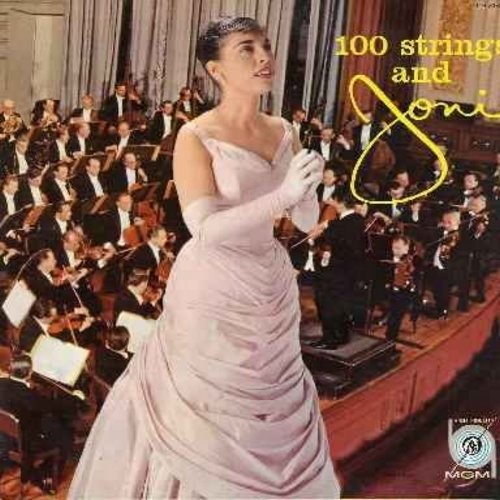 James, Joni - 100 Strings And Joni: Too Young, Body And Soul, Hi-Lili Hi-Lo, It Could Happen To You, Imagination, My Heart Tells Me (Vinyl LP record - yellow label early issue) - VG7/VG7 - LP Records