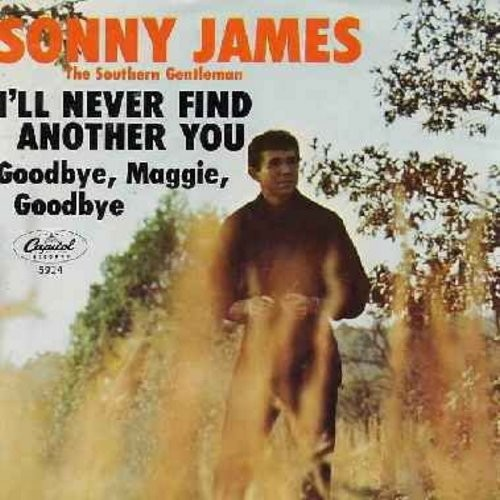 James, Sonny - I'll Never Find Another You/Goodbye, Maggie, Goodbye (with picture sleeve, mint condition) - NM9/EX8 - 45 rpm Records