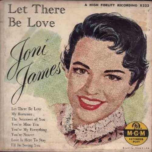 James, Joni - Let There Be Love: Let There Be Love/My Romance/The Nearness Of You/You're Mine You/You're My Evrrything/You're Nearer/Love Is Here To Stay/I'll Be Seeing You  (2 vinyl EP record set with gate-fold picture cover, counts as 2 45s) - EX8/EX8 -