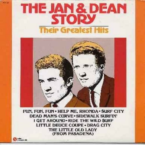 Jan & Dean - The Jan & Dean Story - Their Greatest Hits: Fun Fun Fun, Drag City, Help Me Rhonda, Sidewalk Surfin', The Little Old Lady From Pasadena, I Get Around (Vinyl LP record - Canadian Pressing 1980 issue) - NM9/EX8 - LP Records