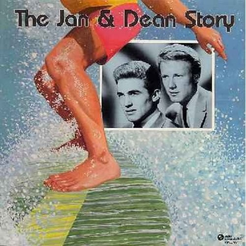 Jan & Dean - The Jan & Dean Story: Surf City, Dead Man's Curve, Ride The Wild Surf, Help Me Rhonda, Little Deuce Coups, Fun Fun Fun, I Get Around, Sidewalk Surfin', Drag City, The Little Old Lady From Pasadena (Vinyl LP record) - NM9/NM9 - LP Records